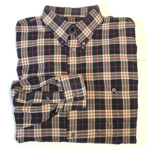Burberry XL Long Sleeve Nova Check Plaid Shirt